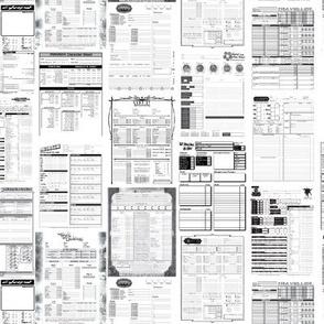 RPG Character Sheets