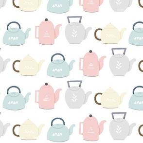 Pastel Teapots