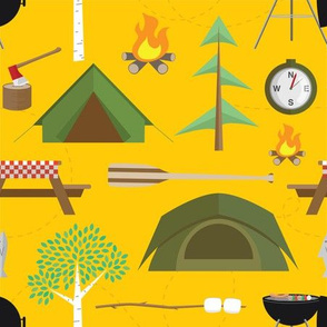 Gone Camping in Yellow