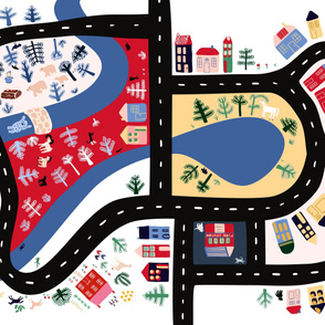 Town and Forest Play Mat