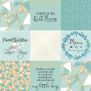 """6"""" Mom of Boys Faux Quilt"""