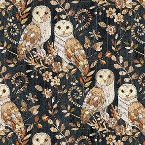 Wooden Wonderland Barn Owl Collage - large