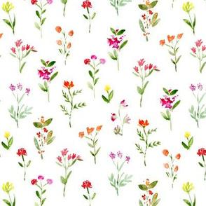 Sweet meadow watercolor floral pattern