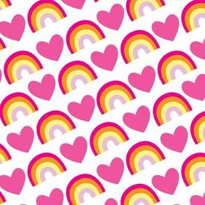 aloha heart rainbow angle pink