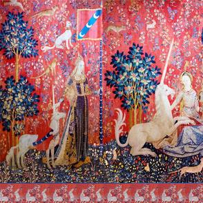 Unicorn tapestry fabric stripe 2