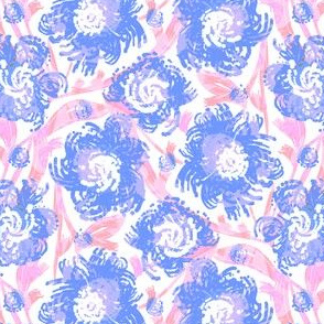 TILE-limolida-spring-flowers-blue-pink-floral-blooms-garden-illustration
