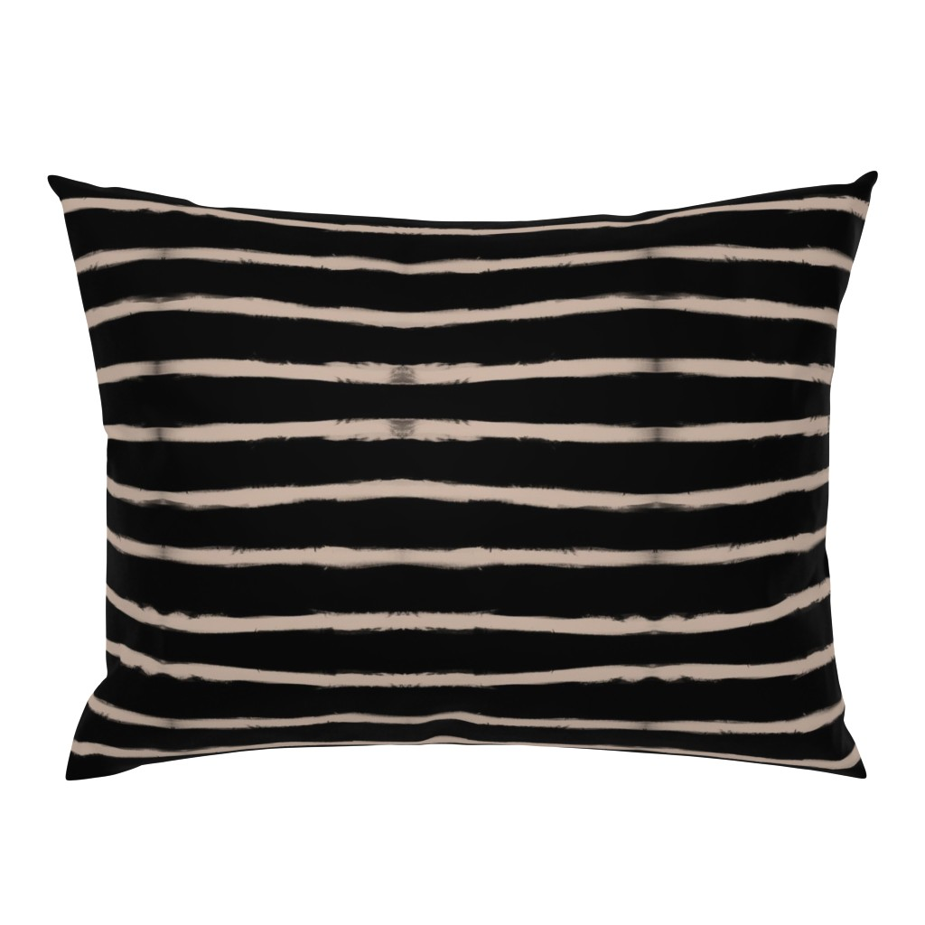 Campine Pillow Sham featuring Medium Brush Strokes Horizontal Nude on Black by form_creative