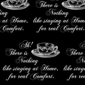 Jane Austen Home Comfort Teacup black