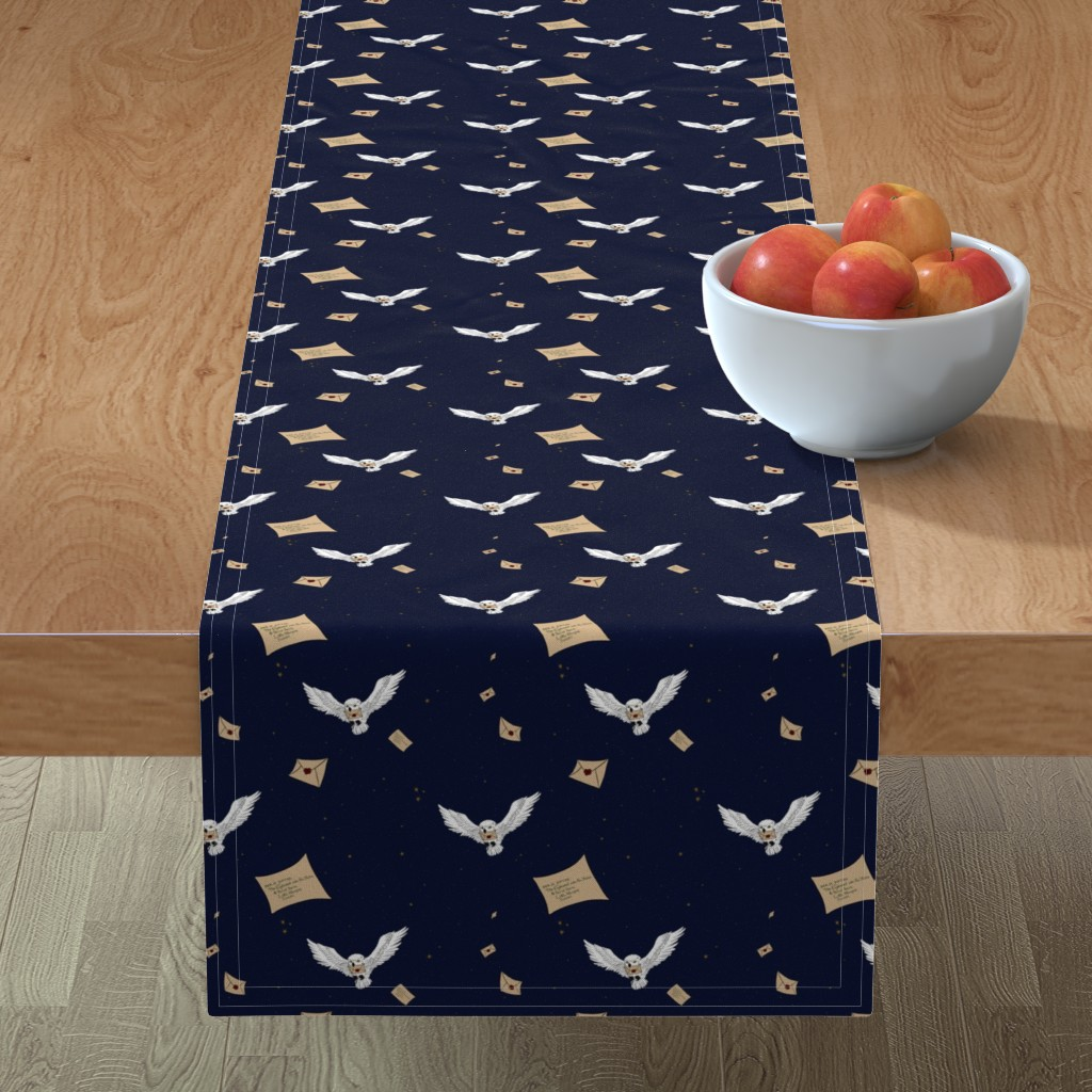 Minorca Table Runner featuring Owl Post - 1/2 Size by sparkymonster