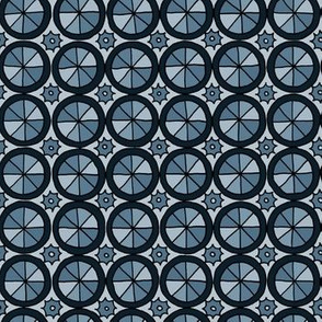 Spokes and Gears - Blue Grey
