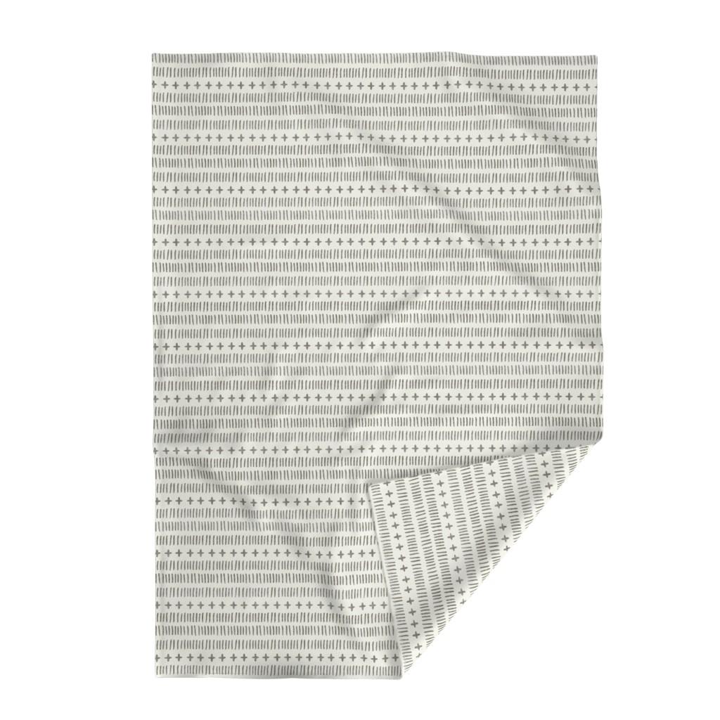 Lakenvelder Throw Blanket featuring modern farmhouse dash (large scale) by littlearrowdesign