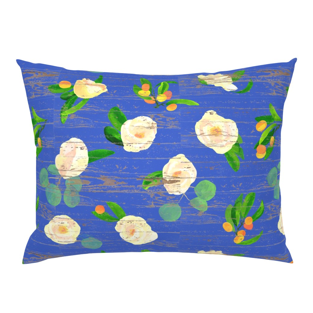 Campine Pillow Sham featuring kumquats floral on wood by ghouk