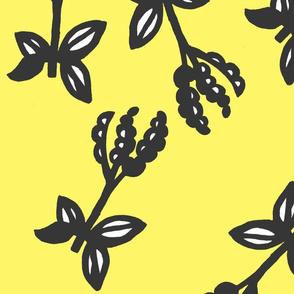 Yellow and black flowers
