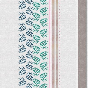 Farmhouse Veranda stripe blue-green