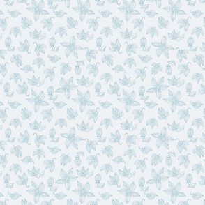 Botanic Sketch - Palest Blue