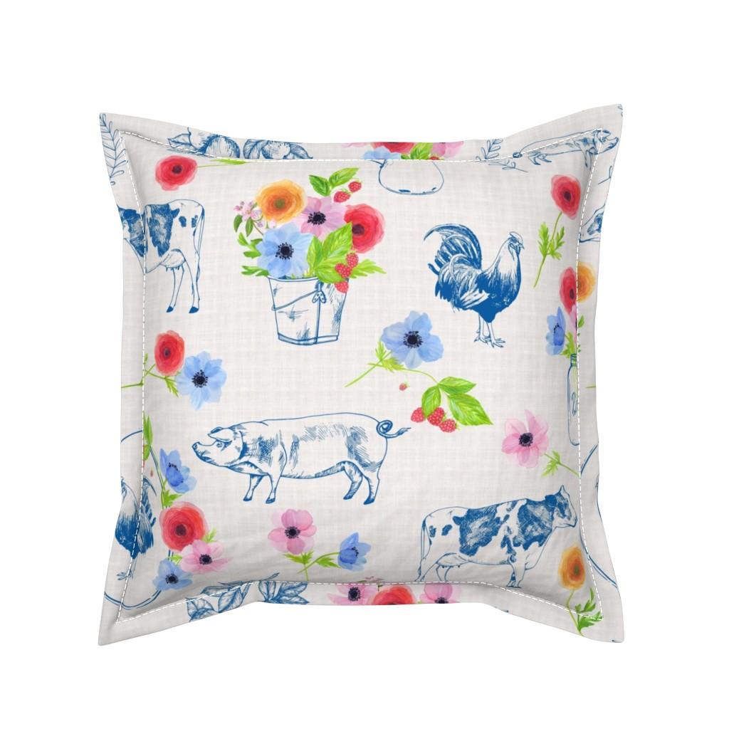 Serama Throw Pillow featuring Meadowsweet Farm by katebillingsley