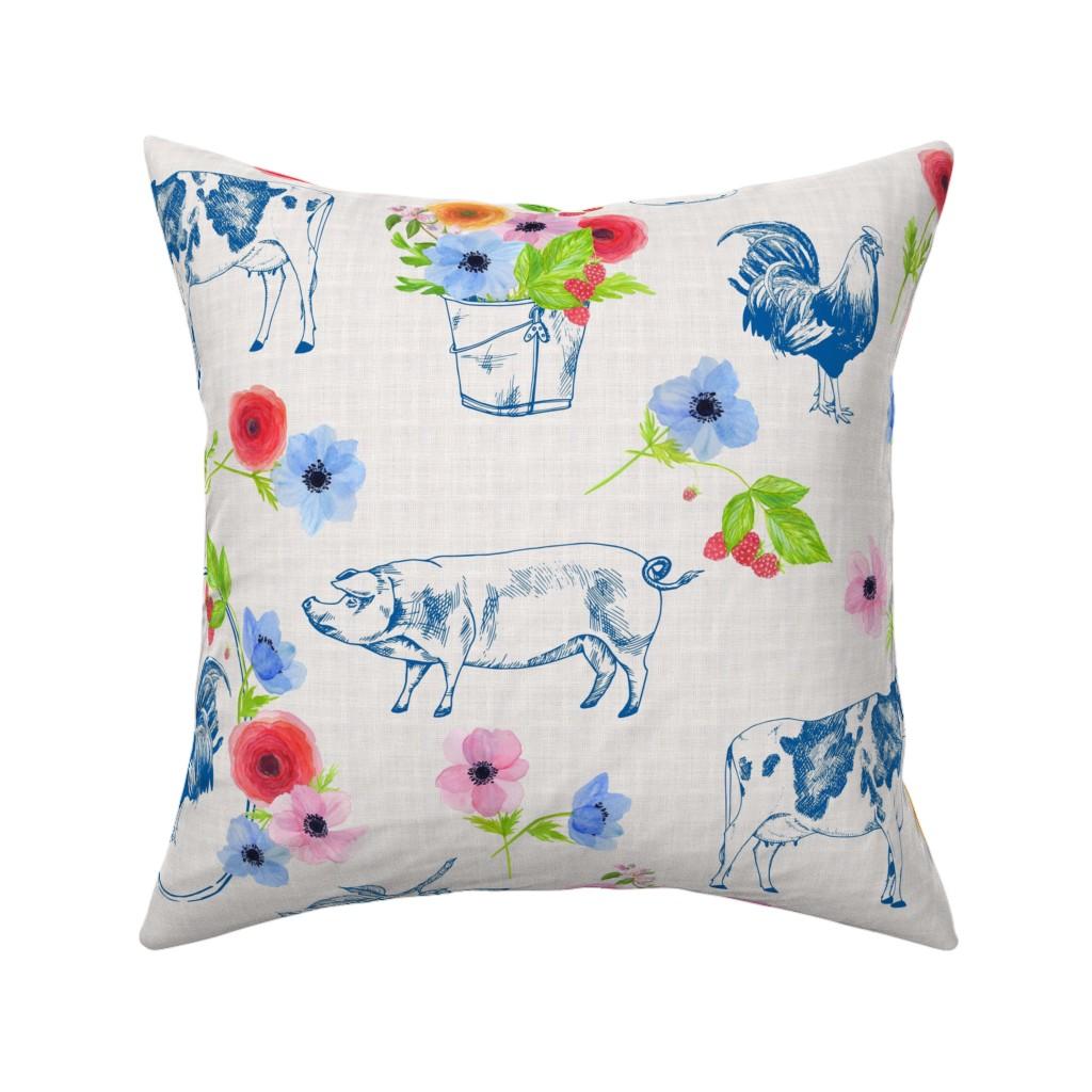 Catalan Throw Pillow featuring Meadowsweet Farm by katebillingsley