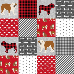 english bulldog pet quilt a  fabric quilt dog breed collection cheater