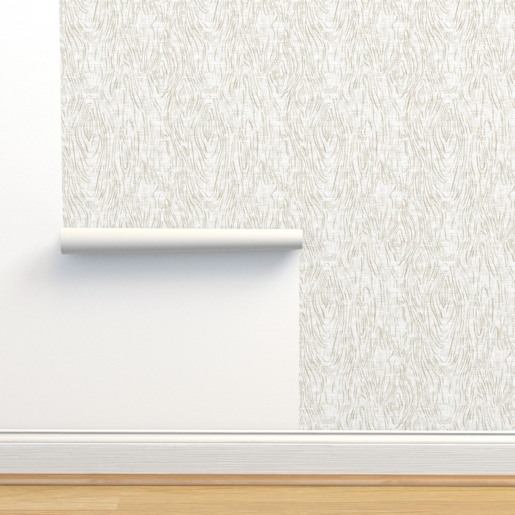 Isobar Durable Wallpaper featuring Woodgrain {Whitewash} by ceciliamok