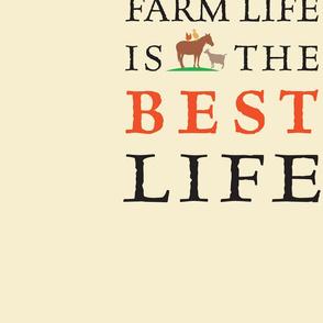 Farm Life Pillow on Cream