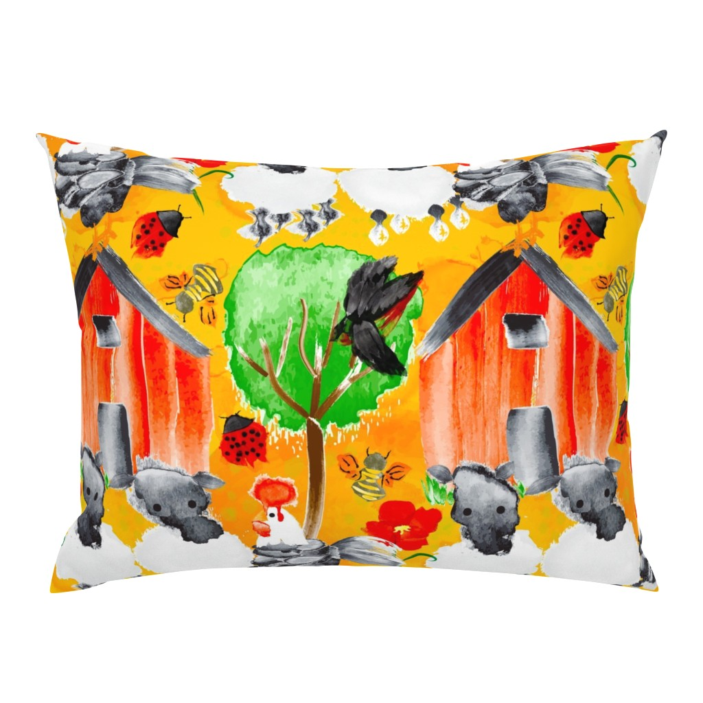 Campine Pillow Sham featuring Spring Chicken Chronicles by orangefancy