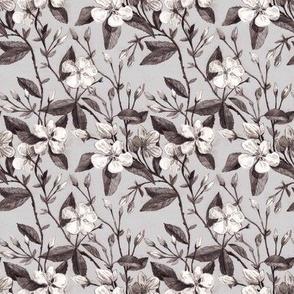 Seamless pattern apple flower vintage illustration  002