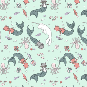 Mermaid Critters // by Sweet Melody Designs