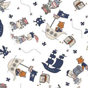 Ahoy Matey - Animal Pirates // by Sweet Melody Designs
