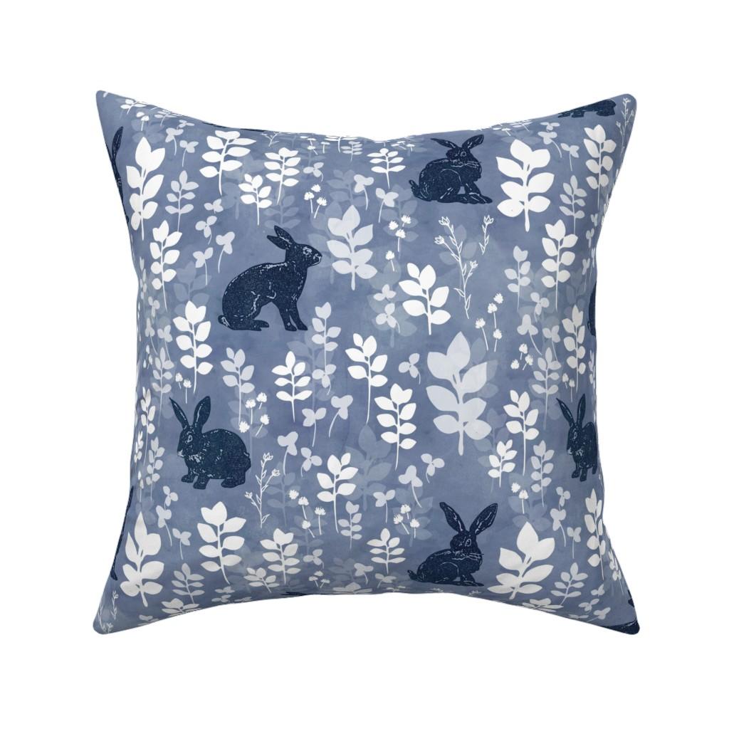 Catalan Throw Pillow featuring Wild rabbit field by adenaj
