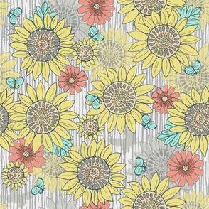 Sunflowers, Farmhouse colors