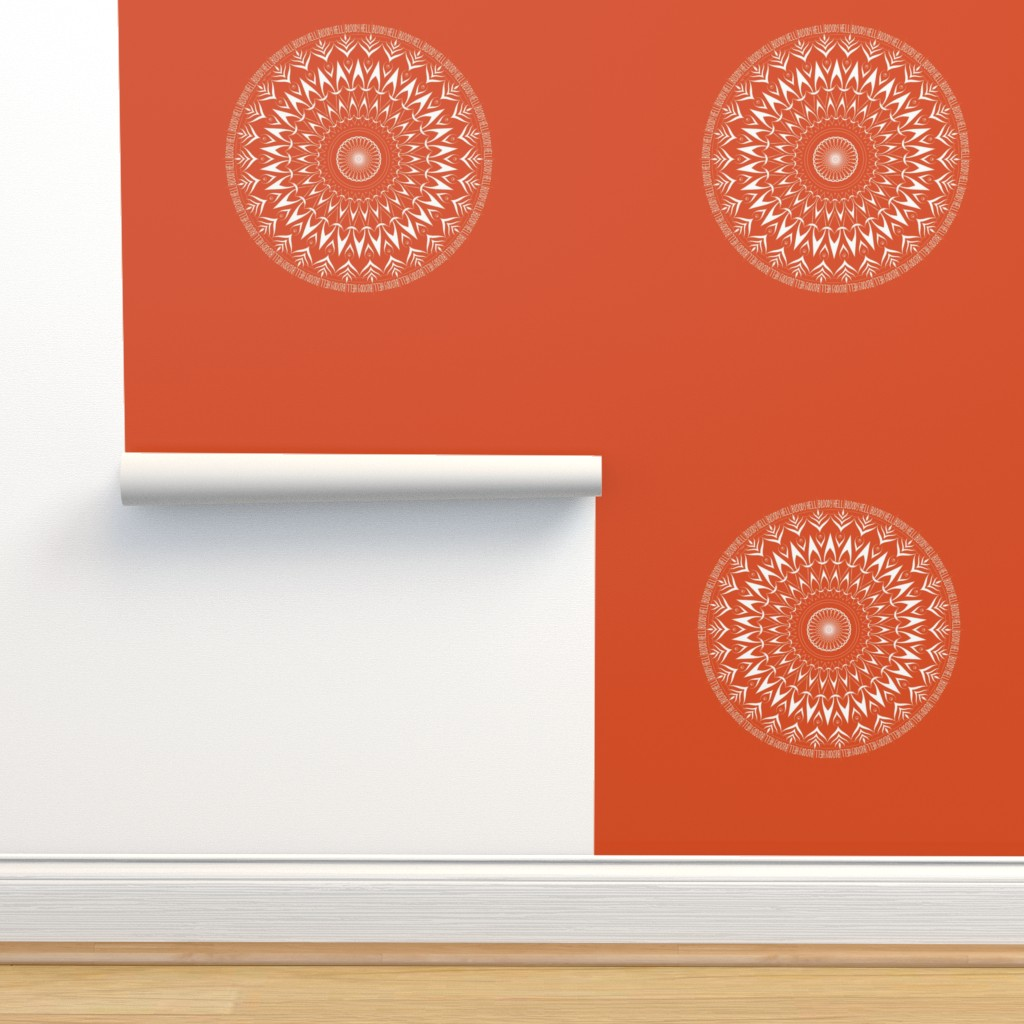 Isobar Durable Wallpaper featuring Bloody Hell - mandala by secretbean