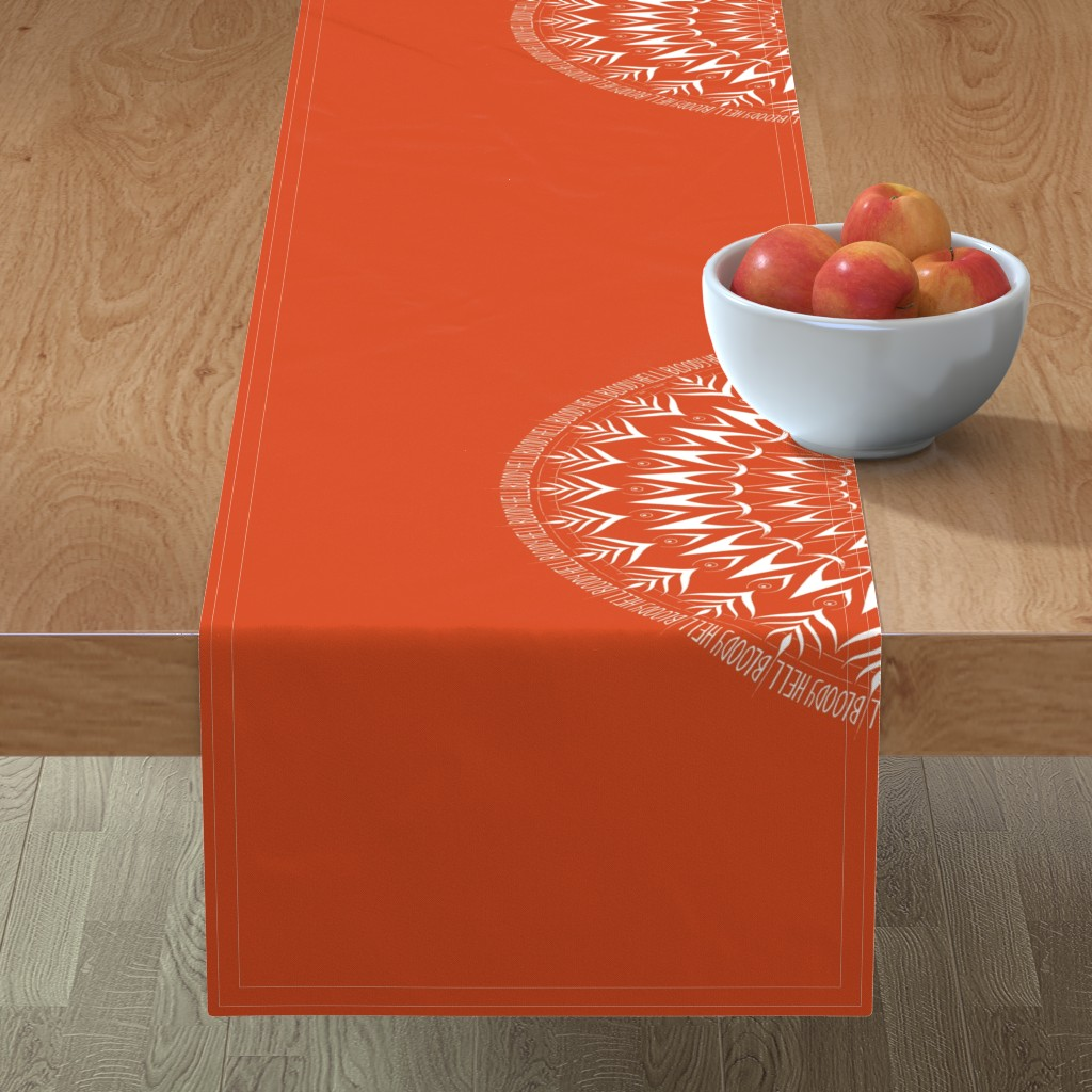 Minorca Table Runner featuring Bloody Hell - mandala by secretbean