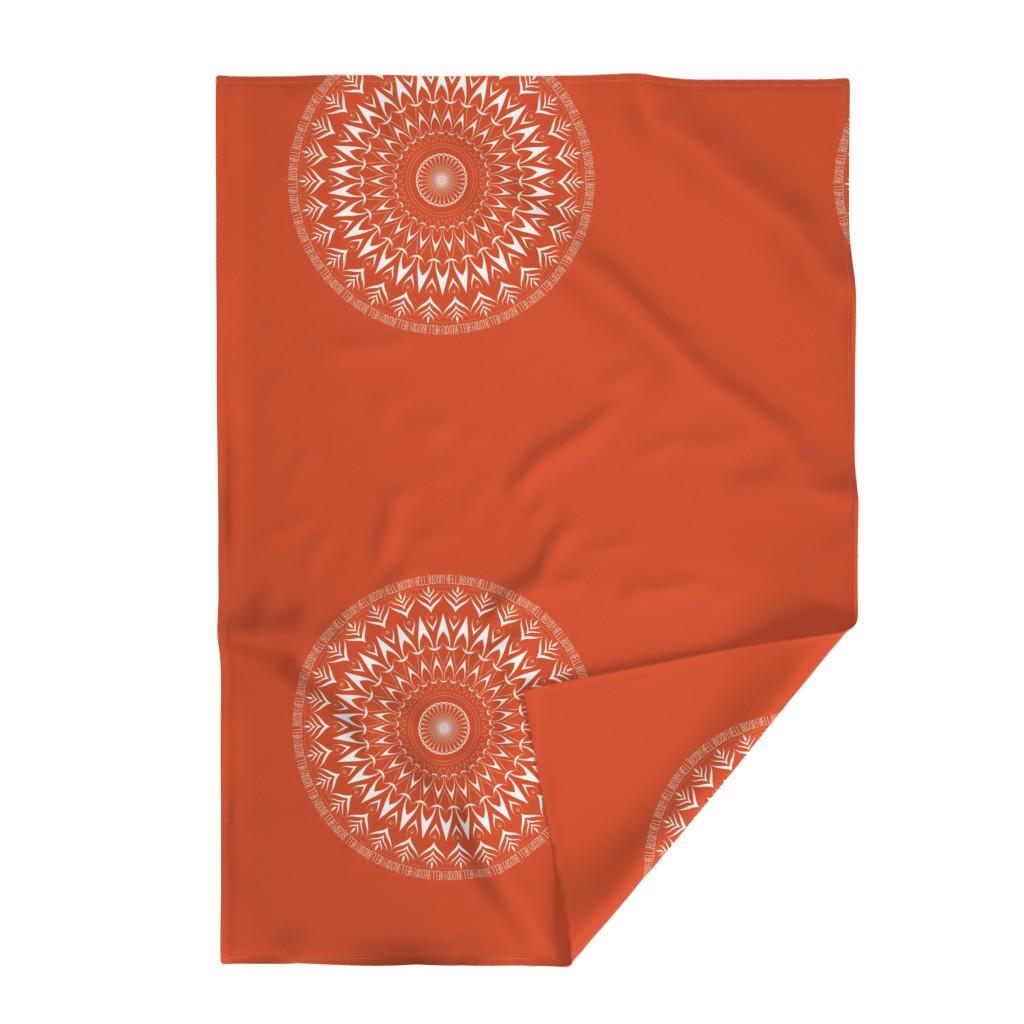 Lakenvelder Throw Blanket featuring Bloody Hell - mandala by secretbean