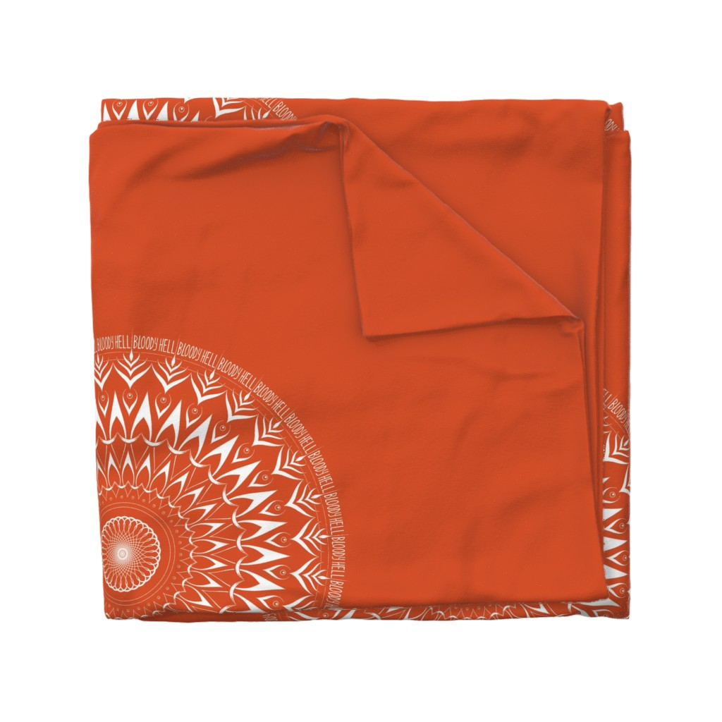 Wyandotte Duvet Cover featuring Bloody Hell - mandala by secretbean