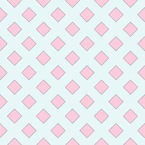 45 Degrees Square Shape Light Blue Pink