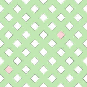 45 Degrees Square Shape Light Green