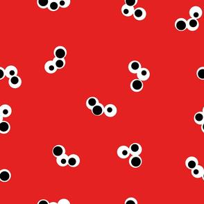 Triple Dot Red Black