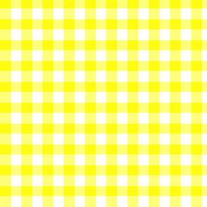 Yellow Gingham - Bright Sunny Summer