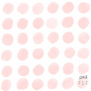 Pink dots and one smile