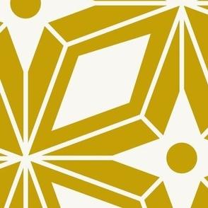 Starburst - Midcentury Modern Geometric Gold Jumbo Scale