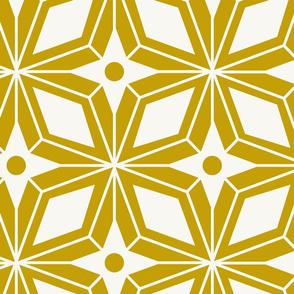 Starburst - Midcentury Modern Geometric Gold Large Scale