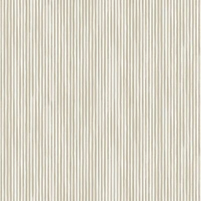 Vertical Watercolor Mini Stripes M+M Latte by Friztin