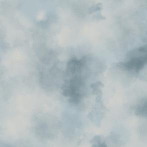 Blue Heron Watercolor Sky