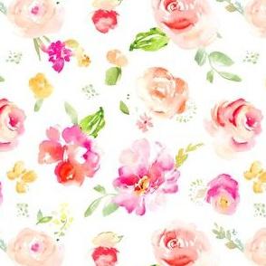 Gemma Floral Toss on White