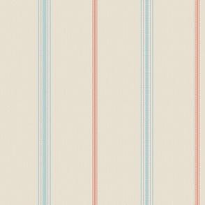 Floursack Stripe - Multi: Sky-Hydrangea-FreshTomato