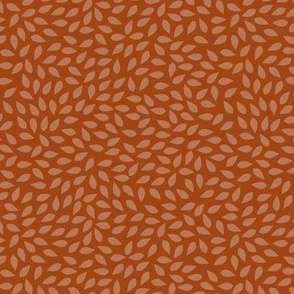 Leaf burnt orange co-ordinate