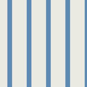 Medium Blue stripes on Cream STRIPED