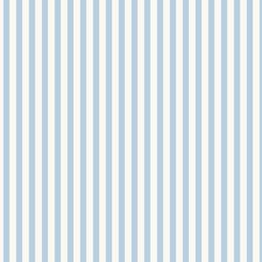 Icy blue stripe on cream Mary Poppins Apron