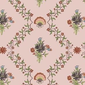 1770´s cotton Francaise powderpink