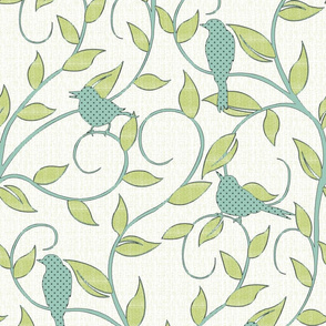 serene songbirds (zoom to see textural details!)